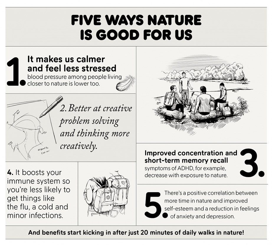 Five ways nature is good for us